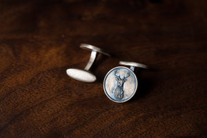 Solid Bronze Cufflinks - Stag's Head