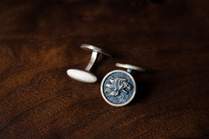 Solid Bronze Cufflinks - Lion's Head