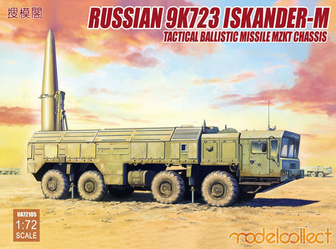 ModelCollect Military 1/72 Russian 9K720 Iskander-M Tactical Ballistic Missile MZKT Chassis Kit