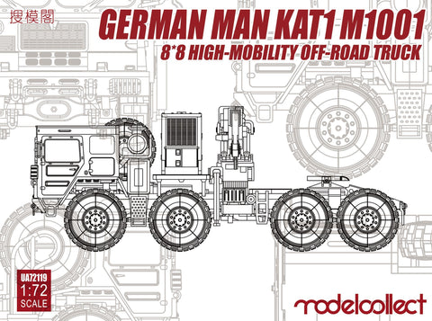ModelCollect Military 1/72 German MAN KAT1 M1001 8x8 High-Mobility Off-Road Truck Kit