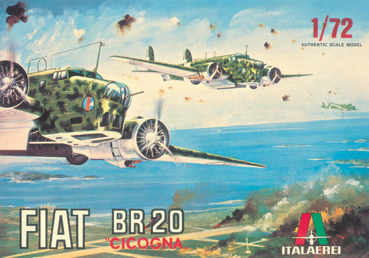 Italeri Aircraft 1/72 Fiat BR20 Cicogna Aircraft (Vintage Collection Ltd Edition) Kit