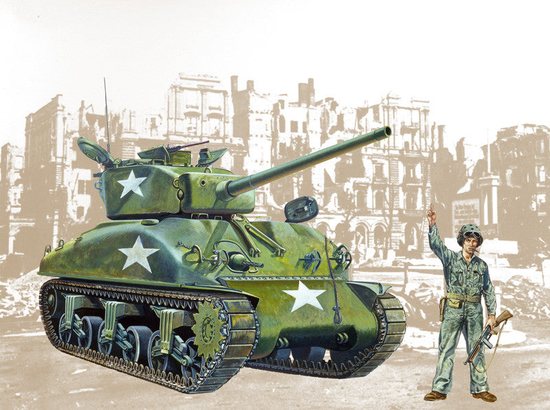 Italeri Military 1/35 M4A1 Sherman Tank Kit