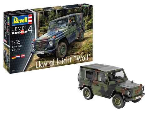 Revell Germany Military 1/35 LKW gl Wolf 4x4 Military Truck Kit