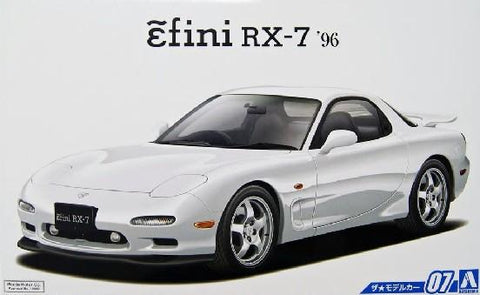 Aoshima Car Models 1/24 1996 Mazda FD3S RX7 2-Door Car Kit