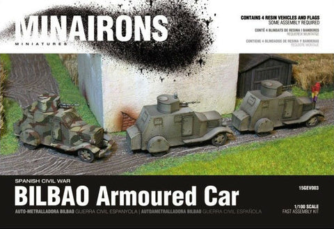 Minairons Miniatures 1/100 Spanish Civil War: Bilbao Armored Car (4) Resin Kit