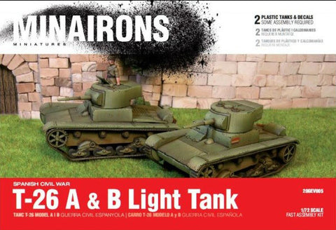 Minairons Miniatures 1/72 Spanish Civil War: T26A/B Light Tank (2) Kit