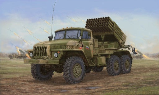 Trumpeter Military Models 1/35 Russian BM21 Hail MRL (Multiple Rocket Launcher) Late Version Kit