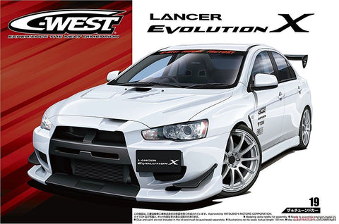 Aoshima Car Models 1/24 2007 Mitsubishi Lancer Evolution X 4-Door Car Kit