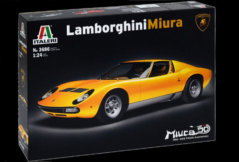 Italeri Model Cars 1/24 Lamborghini Miura Sports Car Kit