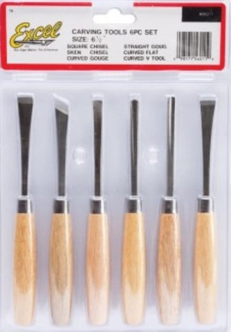"Excel Tools 6.5"" Beginners Woodcarving Set (6pc)"