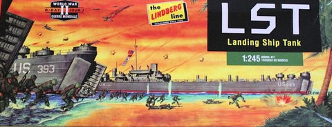 Lindberg Model Ships 1/245 WWII Landing Ship Tank (LST) Kit