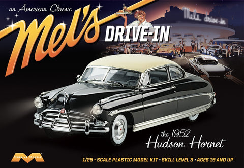 Moebius Model Cars 1/25 '52 Hudson Hornet Mel's Drive-In Kit