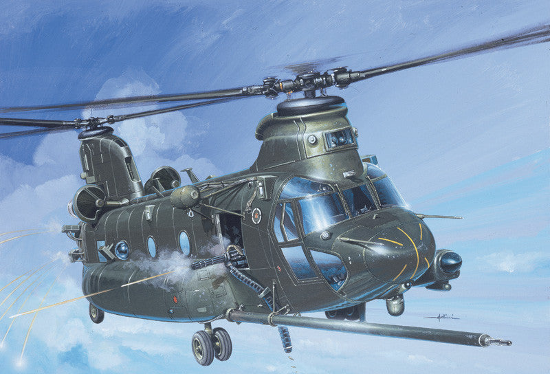 Italeri Aircraft 1/72 MH47E SOAR Chinook Attack Helicopter Kit