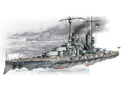 ICM Model Ships 1/350 WWI German Battleship SMS Grossr Kurfurst Kit