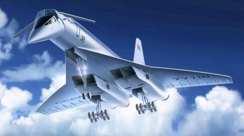 ICM Aircraft 1/144 Soviet Tupolev 144 Charger Supersonic Passenger Airliner Kit