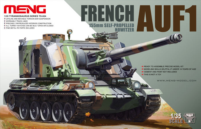 Meng Military Models 1/35 French AUF1 155mm Self-Propelled Howitzer Kit