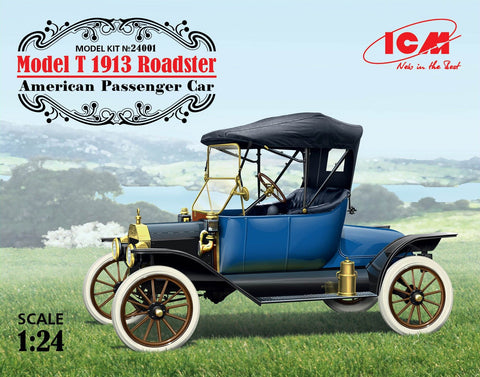 ICM Model Cars 1/24 American Model T 1913 Roadster Passenger Car Kit