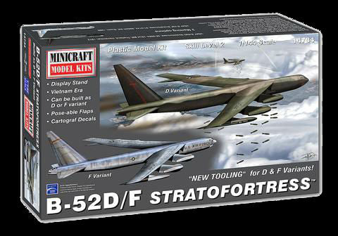 Minicraft Model Aircraft 1/144 B52D Stratofortress Aircraft (New Tooling for D Bombs) Kit