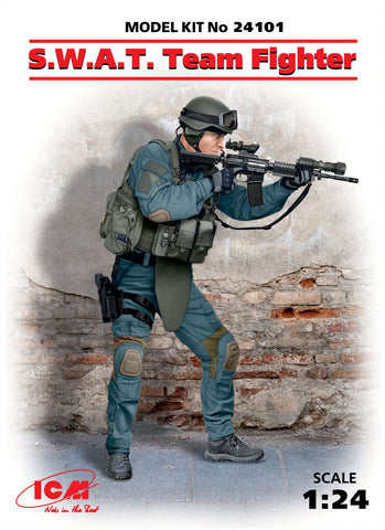 ICM Military 1/24 SWAT Team Fighter (New Tool) Kit