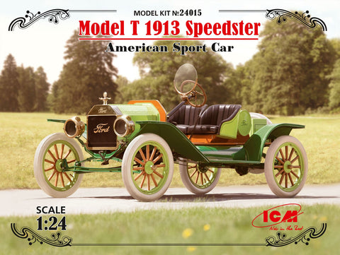 ICM Military 1/24 American Model T 1913 Speedster Sports Car Kit