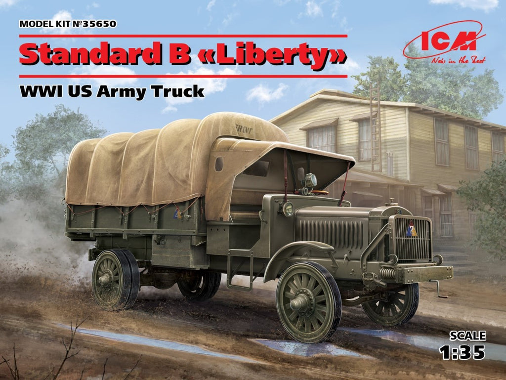 ICM Military 1/35 WWI US Standard B Liberty Army Truck (New Tool) Kit