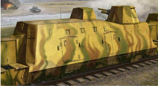 Trumpeter Military Models 1/35 WWII German Army Geschutzwagen Cannon Railcar Kit