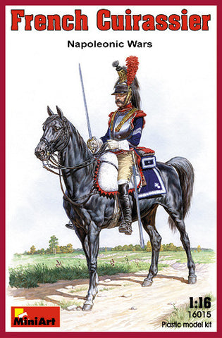 MiniArt Military 1/16 Napoleonic Wars French Cuirassier on Horse Kit