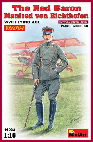 MiniArt Military 1/16 Red Baron Manfred von Richthofen WWI Flying Ace Kit