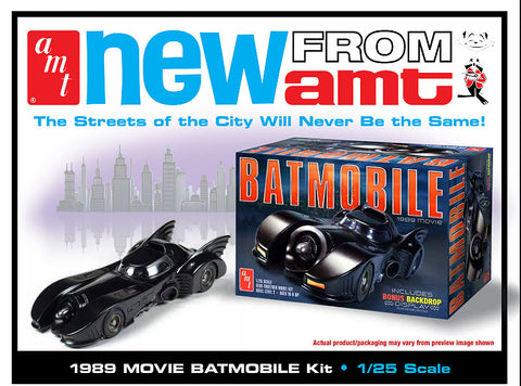 AMT Sci-Fi Models 1/25 Batman 1989 Movie Batmobile w/Resin Batman Figure Kit