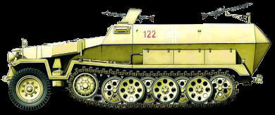 Armourfast Military 1/72 German SdKfz 251/1 (2) Kit