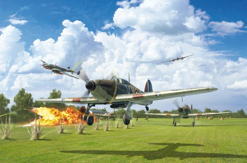 Italeri Aircraft 1/48 Hurricane Mk I RAF Fighter Battle of Britain 80th Anniversary Kit