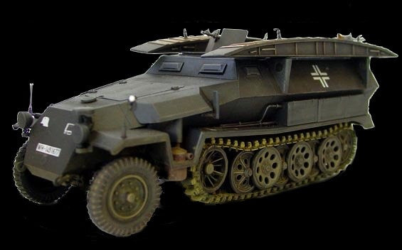 AFV Club Military 1/35 SdKfz 251/7 Ausf C Pioneer Assault Bridge Strumbrucke Tracked Vehicle Kit
