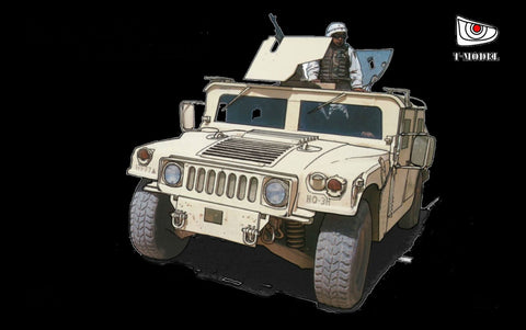 T-Model 1/72 US Modern M1114 Up-Armor HMMWV Truck Kit
