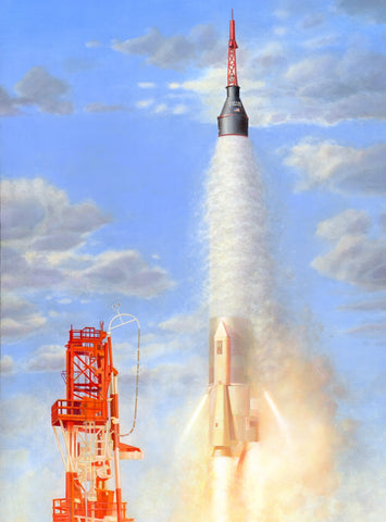 Horizon Models 1/72 Mercury US Atlas Rocket Capsule Kit