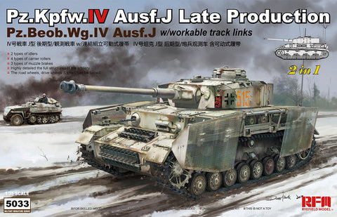 Rye Field 1/35 Pz.Kpfw.IV Ausf.J Late Production Pz.Beob.Wg.IV Ausf. J 2 in 1 Kit