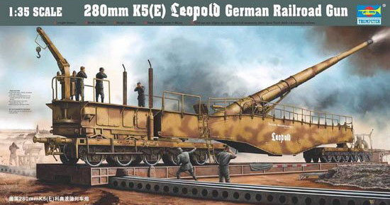 Trumpeter Military Models 1/35 German Railway Gun K5(E) Leopold Kit