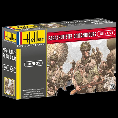 Heller Military 1/72 British Paratroopers (50) Kit