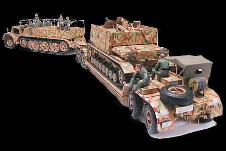 Tamiya Military 1/35 German 18-Ton Halftrack FAMO & SdAh116 Transporter Kit