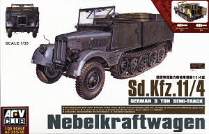 AFV Club Military 1/35 German SdKfz 11/4 3-Ton Semi-Track Nebelkraftwagen Kit