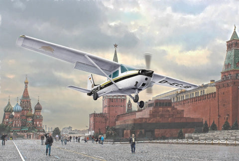 Italeri Aircraft 1/48 Cessna 172 Skyhawk Aircraft 1987 Landing on Red Square Kit