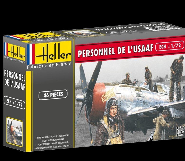 Heller Military 1/72 USAF Military Personnel (46) Kit
