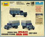 Zvezda Military 1/100 Opel Blitz Truck 1937-44 Snap Kit