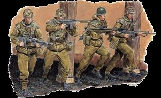Dragon Military 1/35 German Budeswehr Paratroopers (4) Kit