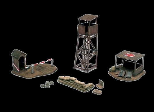 Italeri Military 1/72 WWII Battlefield Buildings (First-Aid Post, Check Point & Tower) Kit