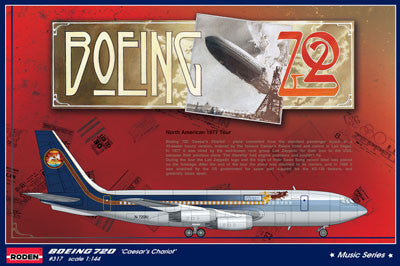Roden Aircraft 1/144 B720 Caesar's Chariot Led Zeppelin Tour Passenger Airliner Kit