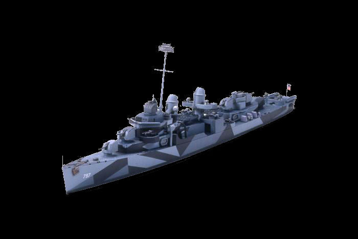 Tamiya Model Ships 1/700 USS Cushing DD797 Fletcher Class Destroyer  Waterline Kit