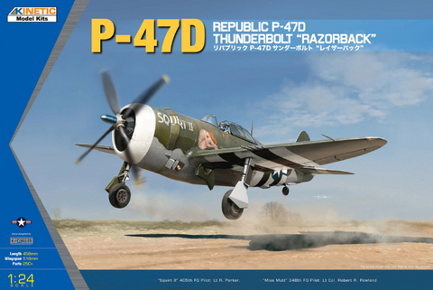 "Kinetic Aircraft 1/24 Republic P-47D Thunderbolt ""Razorback"" Kit"