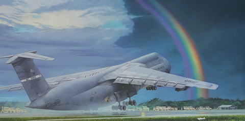 Roden Aircraft 1/144 C5B Galaxy Military Transport Aircraft Kit