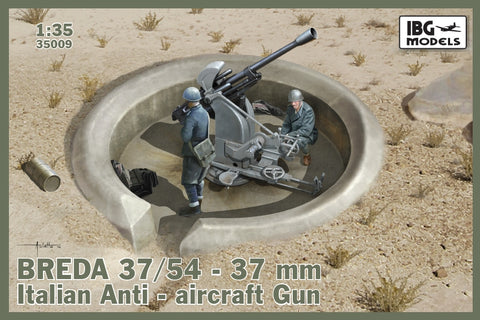 IBG Military 1/35  Breda 37/54 Mod 39 Italian 37mm Anti-Aircraft Gun Kit