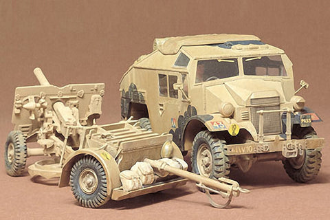 Tamiya Military 1/35 British 25-Pdr Field Gun & Quad Gun Tractor Vehicle Kit